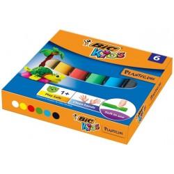 Plastelina  6 kolorów BIC