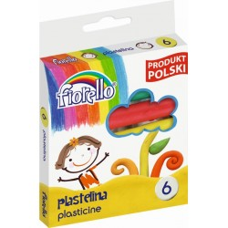 Plastelina  6 kolorów Fiorello